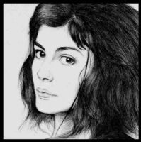 audrey tautou by inkq