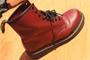 Red boot study by theBellhop