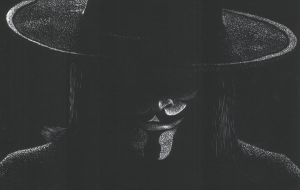 V for Vendetta Scratchboard by ThePat