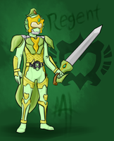 Commission - Armored Rider Regent by Malunis
