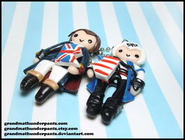 Haythem/Connor BFF Charms by GrandmaThunderpants