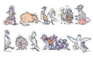 Pigeon Sh** Concepts by Foxi-Loxy