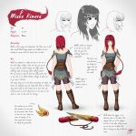 Miaka Kimura - Character Design Sheet by Caz-Lock