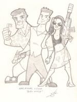 Burn Notice - Sam, Mike + Fi by scruffyzero