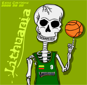 Lithuanian basketball Skullman by RegisCartoons