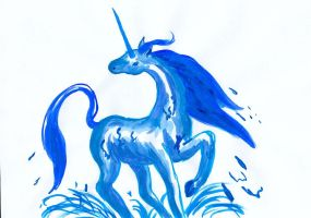 Water Unicorn - 2nd try by Neri-chan