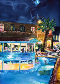 Evening dreams by the pool by NeoNative
