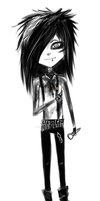 Andy Biersack Doodle by FacelessMachine