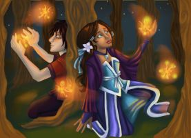 Zutara - Fire Butterflies by SnowFright