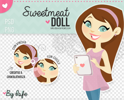 Sweetmeal doll (PNG/PSD) by Isfe