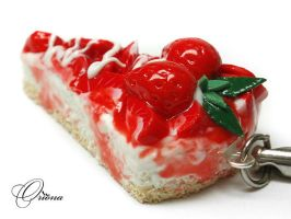 Strawberry Cake 01 by OrionaJewelry