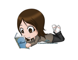 Comm - Chibi - JA - Reading by percylove