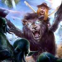Ginger Liam and his Space Lion by michael-jones