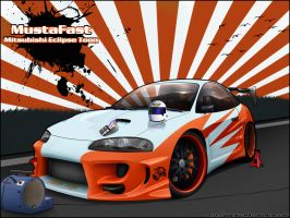 Mitsubishi Eclipse Toon by mustaF4ST