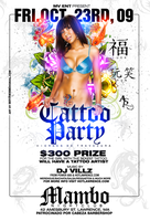 Tattoo Party flyer by DeityDesignz