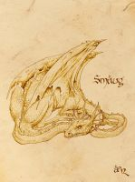 Smaug the Golden by AlessiaPelonzi