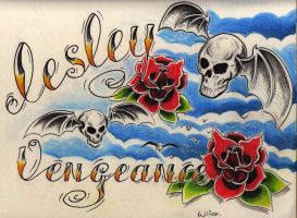 skull roses a7x by WillemXSM