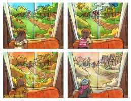 [PM2013] Las Estaciones / The Seasons by papelmarfil