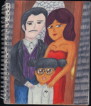 Sketchbook Drawing 20 - The Goth Family by TheEmily1220