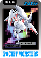 Mega Skarmory Trading Card by CadmiumRED