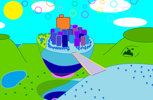 Jelly Jamm fictional geography: Jellytopia by claudinei230