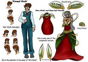 T and B OC Design Concept (Now in Color with Info) by LadyMischievous