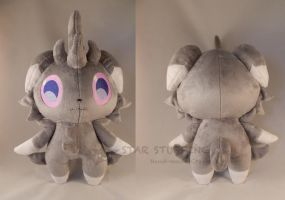 Espurr Pokemon Plush by StarMassacre