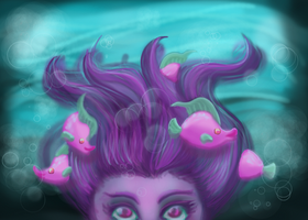 Under the sea by Fraternal-Punzie
