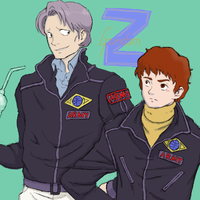 kai and amuro by childings