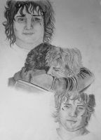 Frodo and Sam (unfinished) by dasimartinez