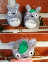 Needle Felted Totoro by P-isfor-Plushes