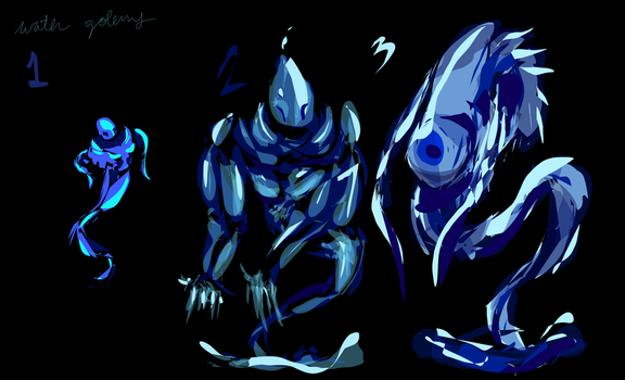 Water Golems Vector Concepts by NinjaPigProductions