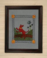 Red Hound Embroidery by padfootb3