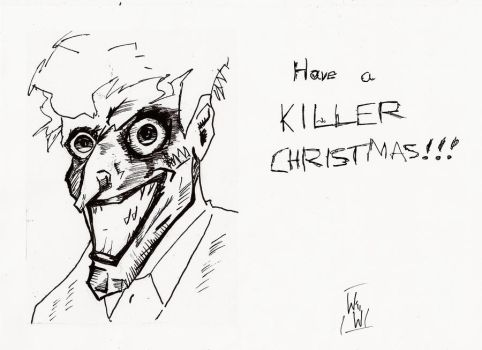 Joker wishes you a jolly christmas by WillWatt
