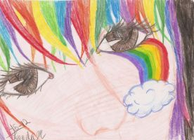raindow under eye by BestImagineryFriend