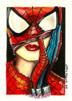 Spider-Man Archive sketch card by JohnHaunLE
