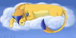Sleepy Lion by Shiloh-Tovah