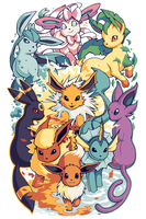 Eeveelutions - Pokemon Sleeve 14 by H0lyhandgrenade