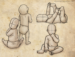 Babies pose practice by Gothicraft