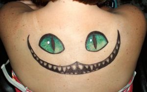 Cheshire smile in Sharpie by originalclosetnerd