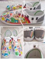 music is art - custom shoes by neko-crafts