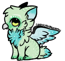 Mystical Green and Blue Griffin Adopt (CLOSED) by AlexusArt-is-back