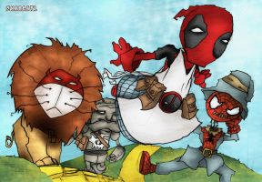 Deadpool_Wizard_of_Oz by zkacoatl