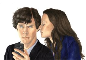 Sherlock and Irene Adler : Go, impress a girl ! by Melnia