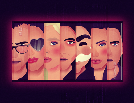 Mr Robot  Characters by Andymemu