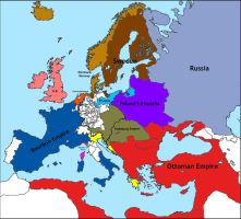 The Empire of Louis XV (the Grand Dauphin): Europe by LoreC10