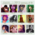 2013 summary of art by Ni-nig