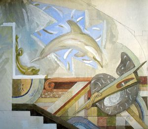 Esquisse of Decoration DOLPHIN 1989 by Yudaev