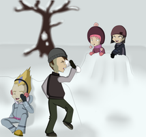 Code Lyoko Secret Santa - Snow Day by Runya-Isamu