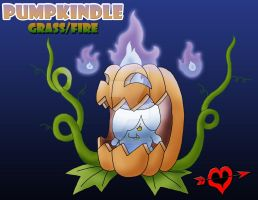 Pumpkindle - Grass Fire Fakemon by JamalPokemon